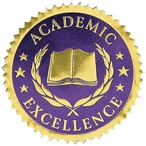 High School Blue Excellence Seal