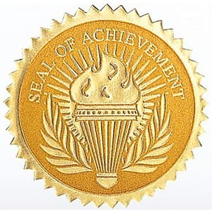 High School Gold Torch Seal