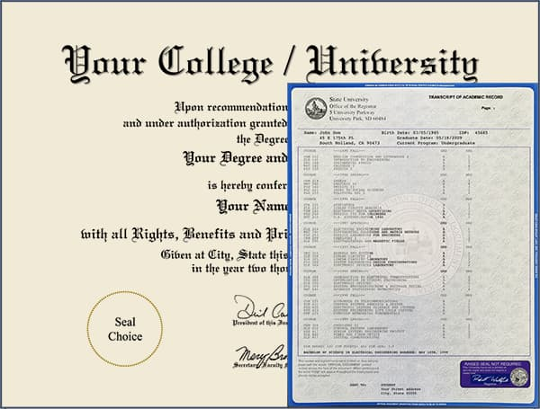 College Diploma - Design 5 with Transcripts COLLEGE_DIPLOMA_NDWT_05