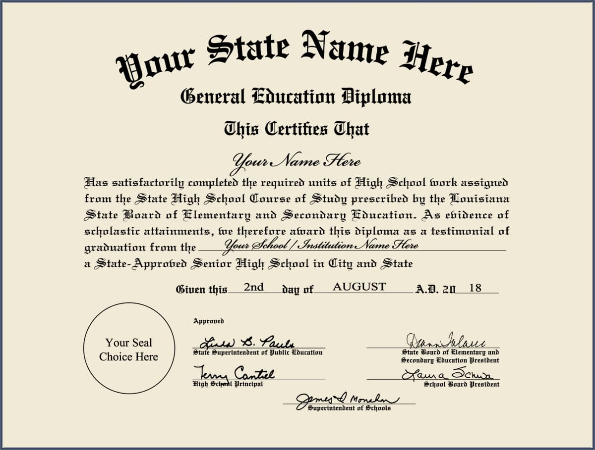 High School Equivalency - GED - Design 4